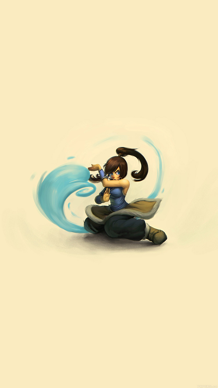 Papers.co-iPhone5-iphone6-plus-wallpaper-aj99-cute-young-avatar-korra-drawing-art