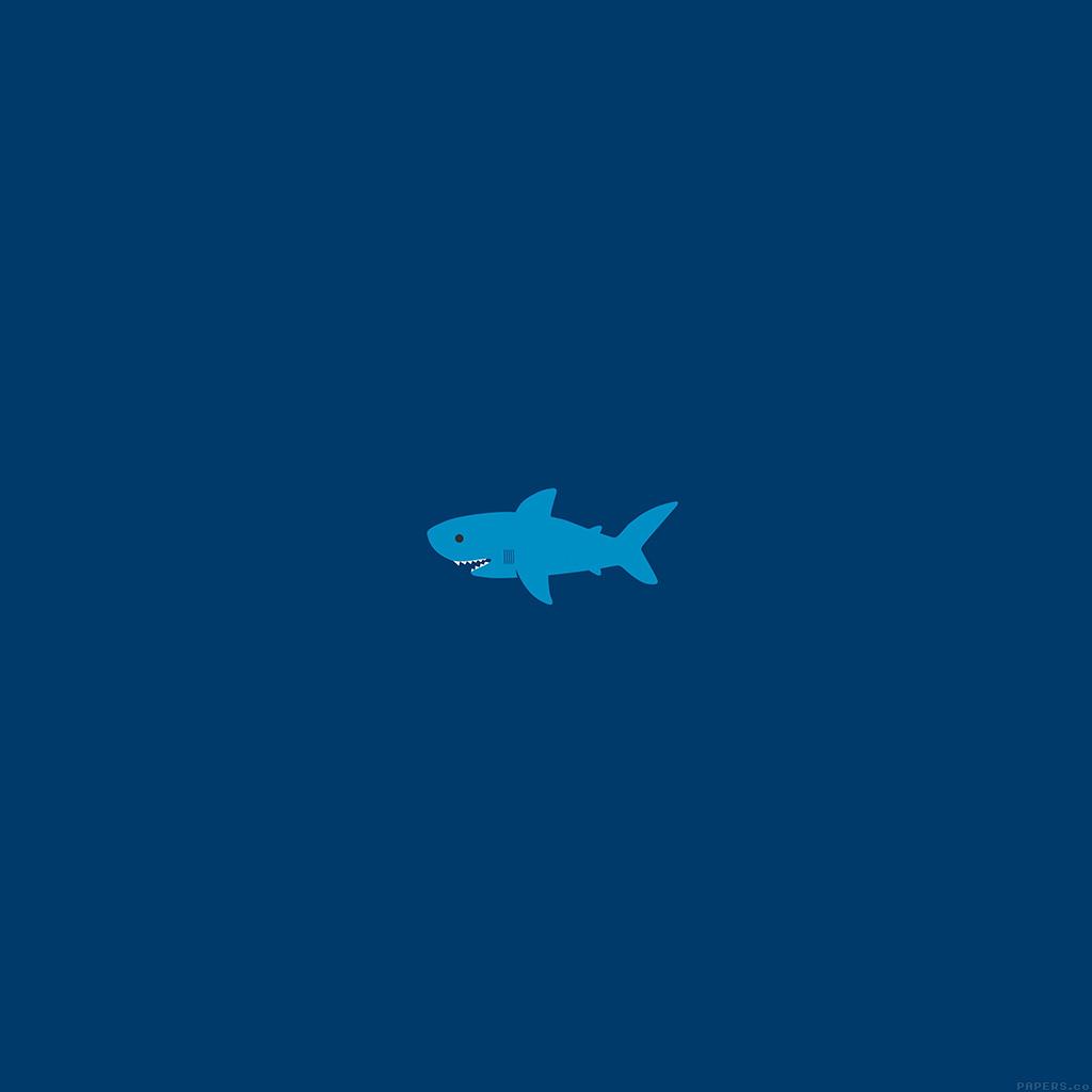 android-wallpaper-ak01-little-small-cute-shark-minimal-wallpaper