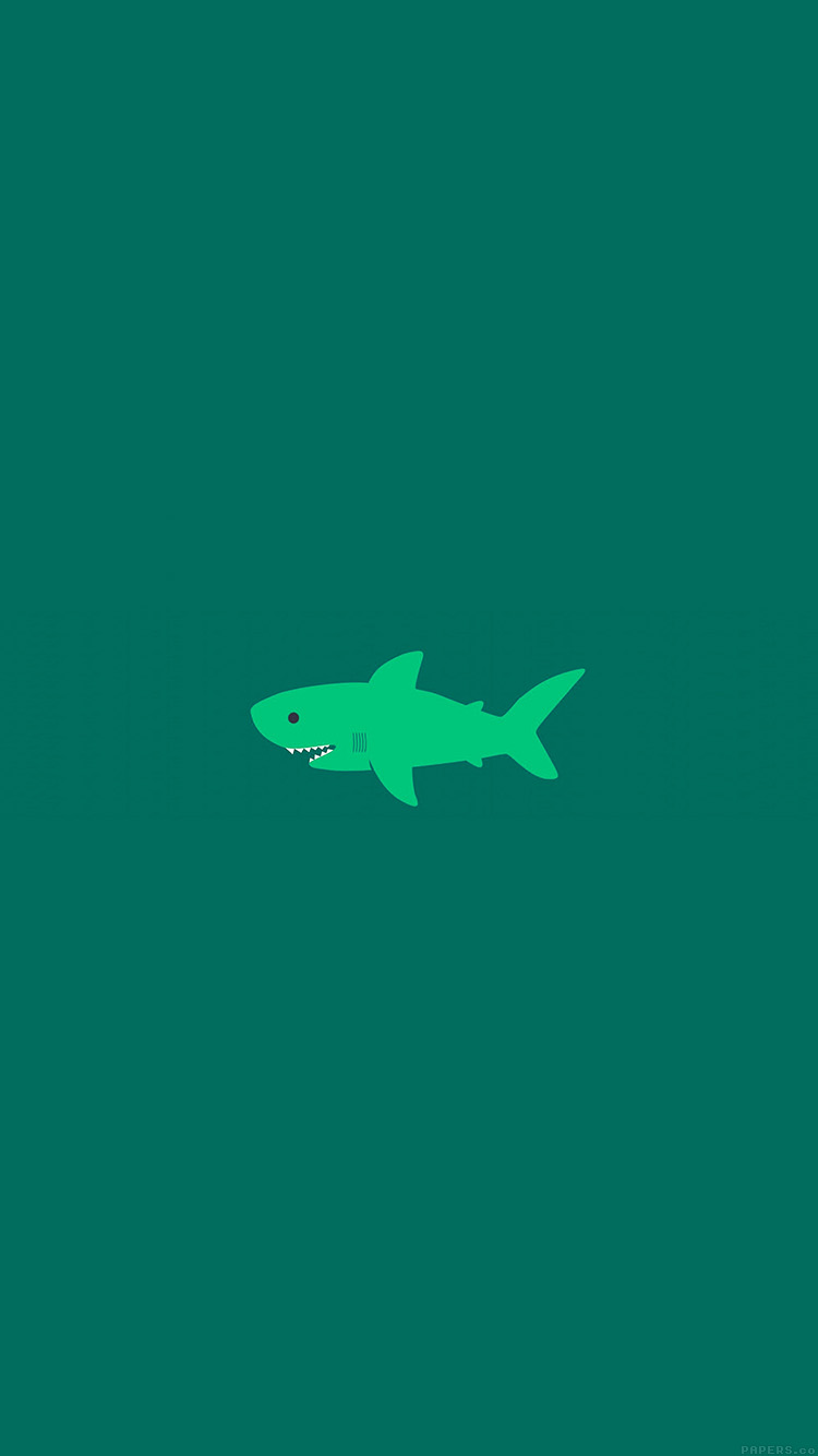 iPhone6papers.co-Apple-iPhone-6-iphone6-plus-wallpaper-ak02-little-small-cute-shark-green-minimal