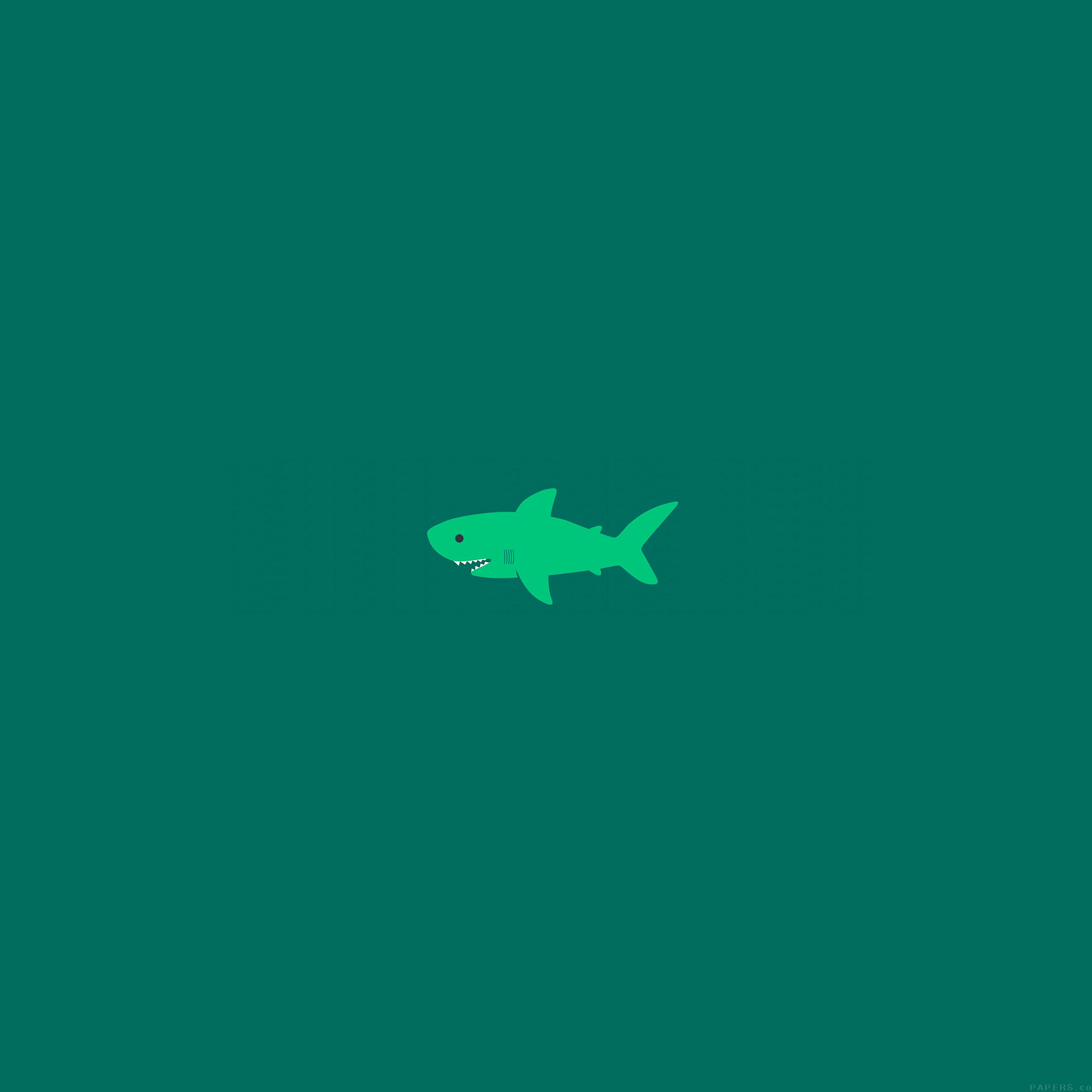 Wallpaper Iphone Minimalist: Ak02-little-small-cute-shark-green-minimal-wallpaper