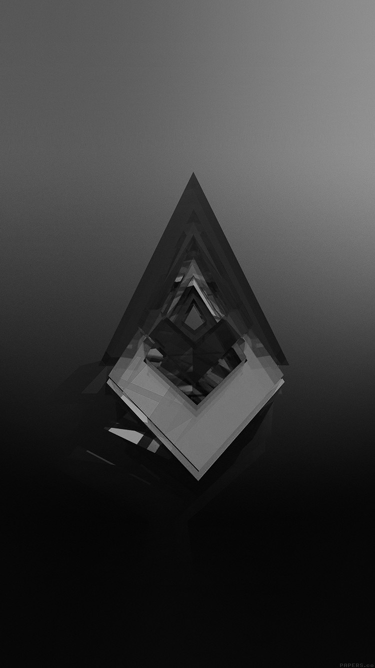 Papersco Iphone Wallpaper Ak03 Symbol Abstract Dark Black