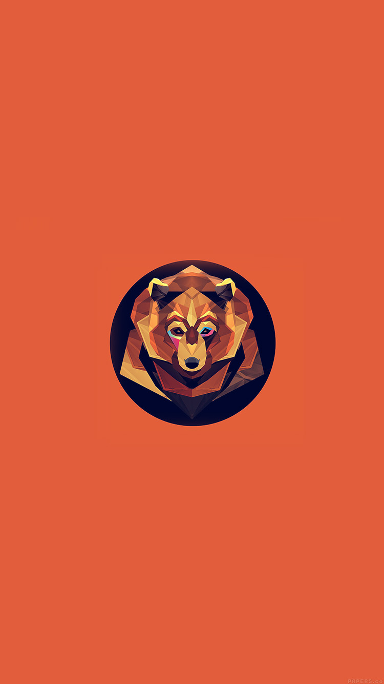 iPhone6papers.co-Apple-iPhone-6-iphone6-plus-wallpaper-ak05-bear-polygon-art-animal-orange