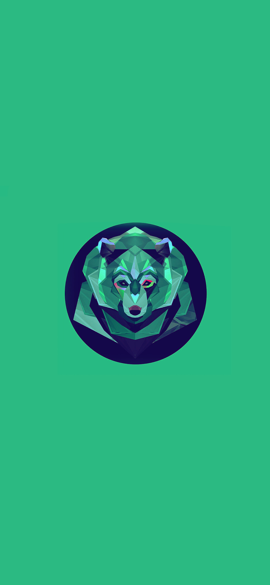 iPhoneXpapers.com-Apple-iPhone-wallpaper-ak06-bear-polygon-art-animal-green
