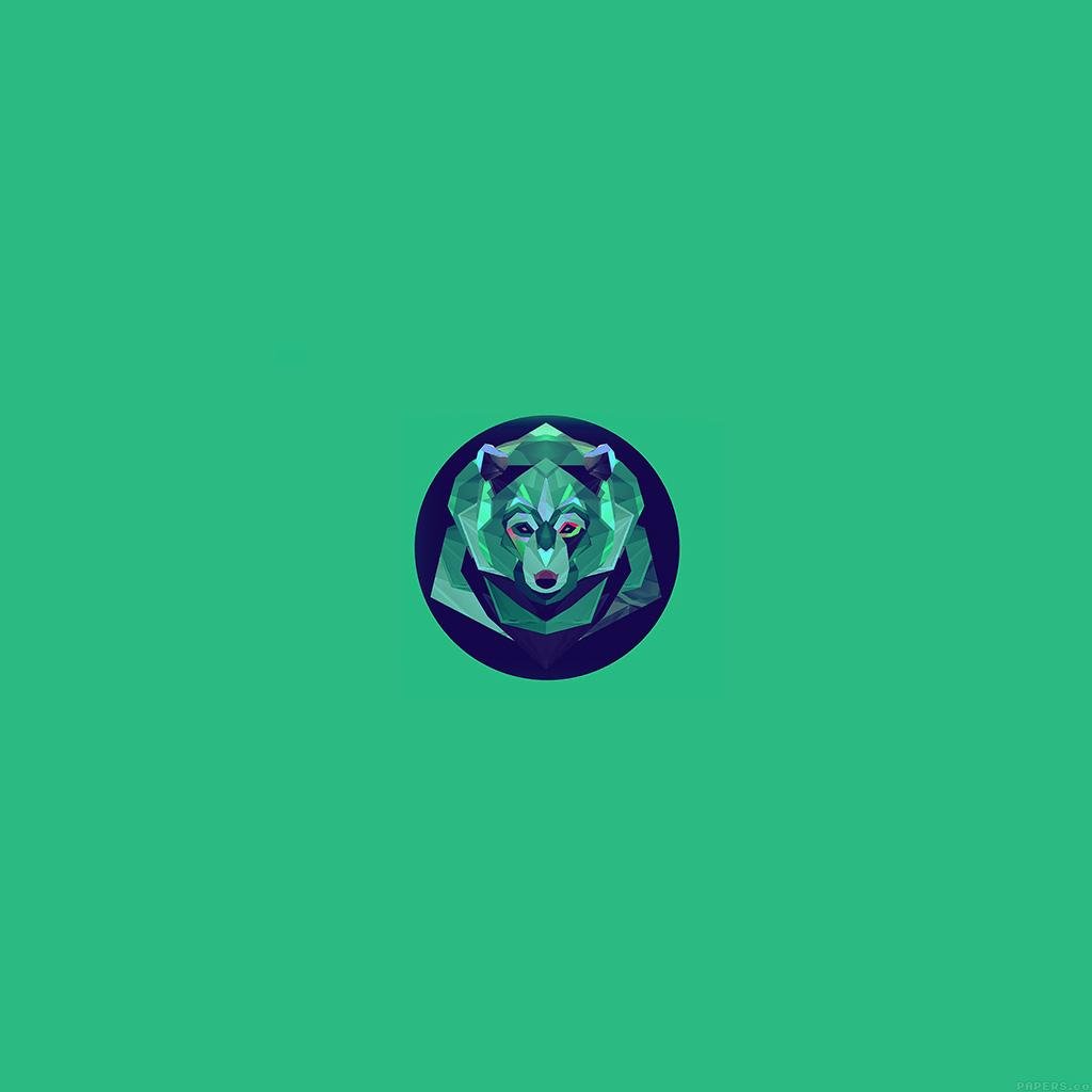 wallpaper-ak06-bear-polygon-art-animal-green-wallpaper