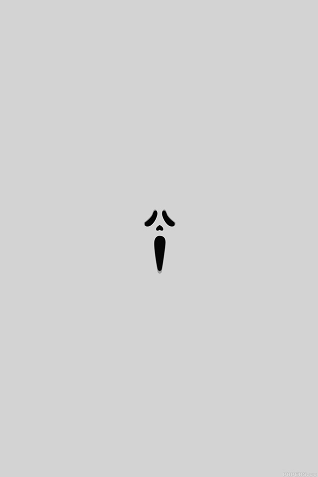 Ak14 Scream White Minimal Cute Art Wallpaper