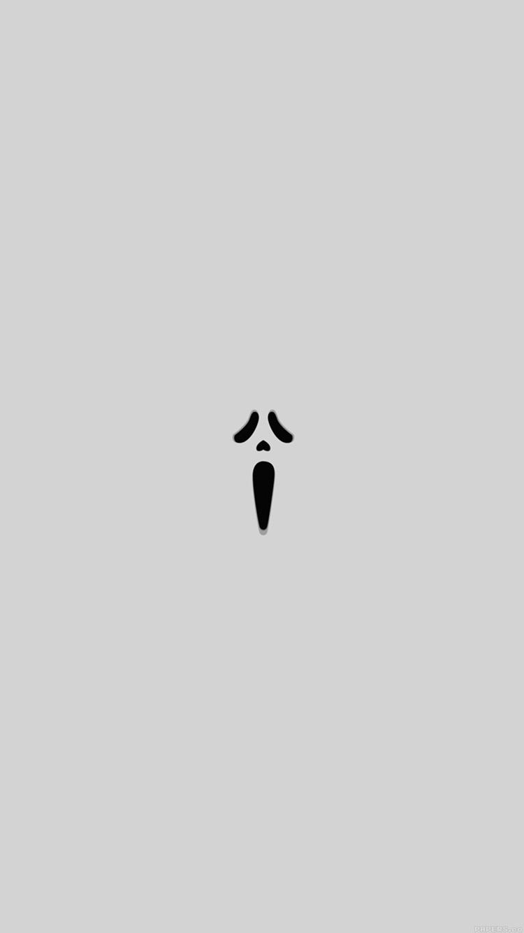Papers.co-iPhone5-iphone6-plus-wallpaper-ak14-scream-white-minimal-cute-art