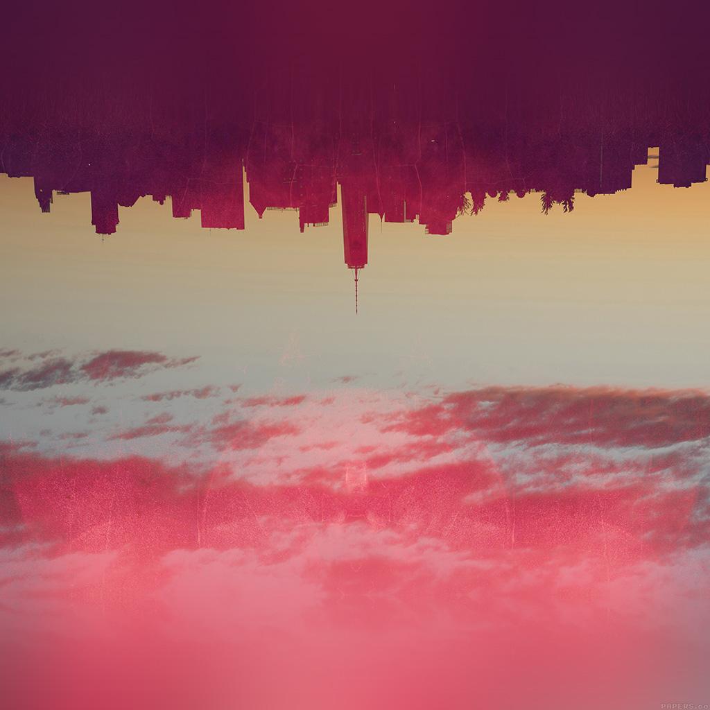 android-wallpaper-ak19-city-art-illust-red-wallpaper