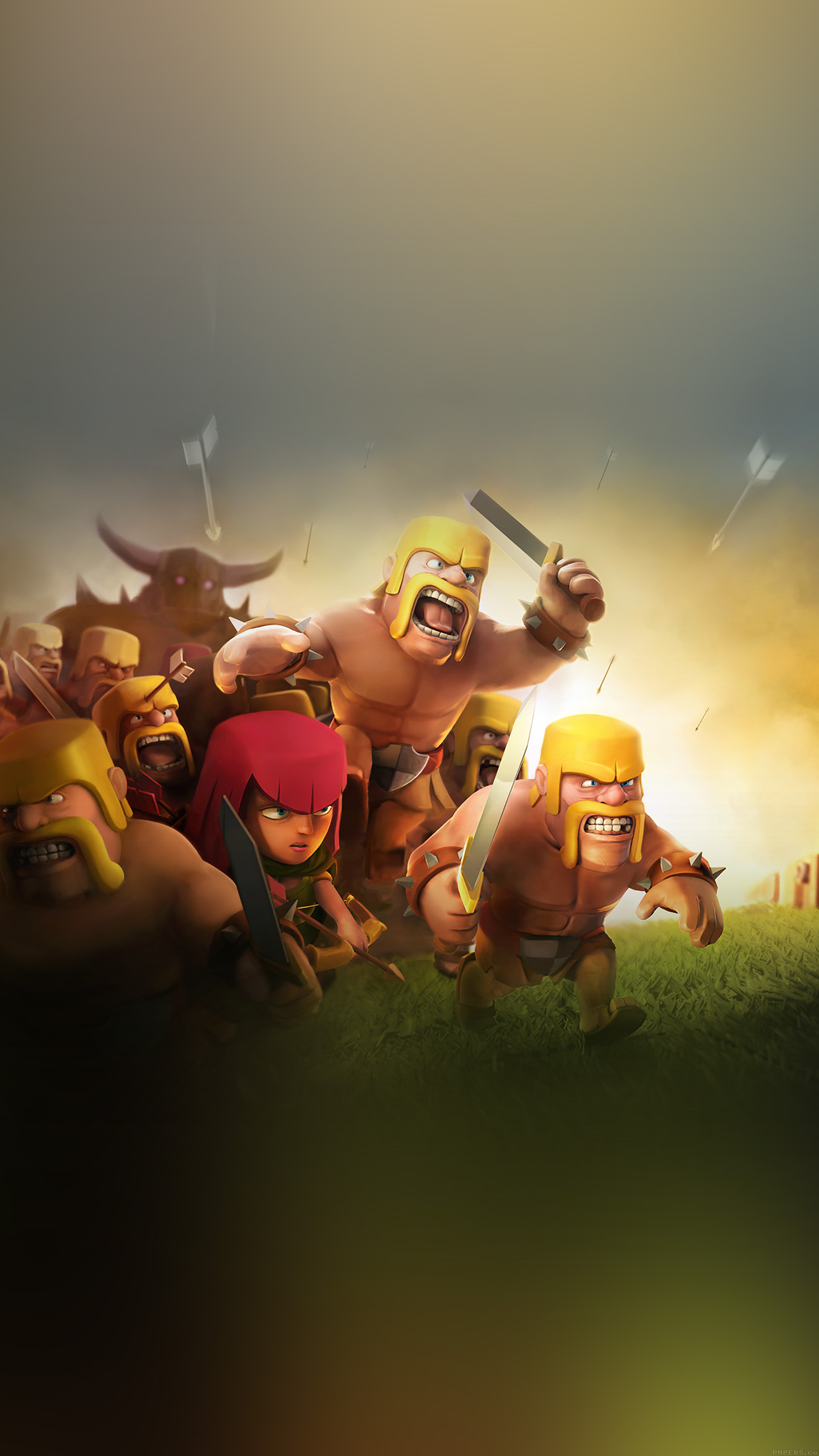 iPhone6papers - ak27-clash-of-clans-war-game-art-illust-cute