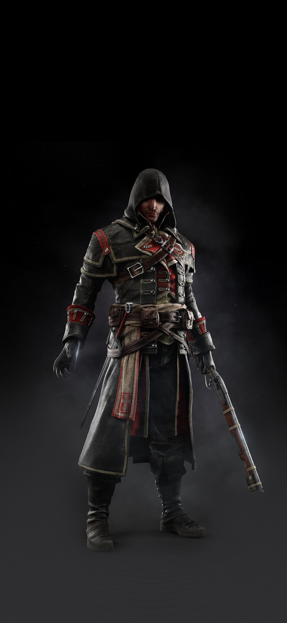 Iphonexpapers Ak28 Assassins Creed Rogue Game Art Dark Shay Hood