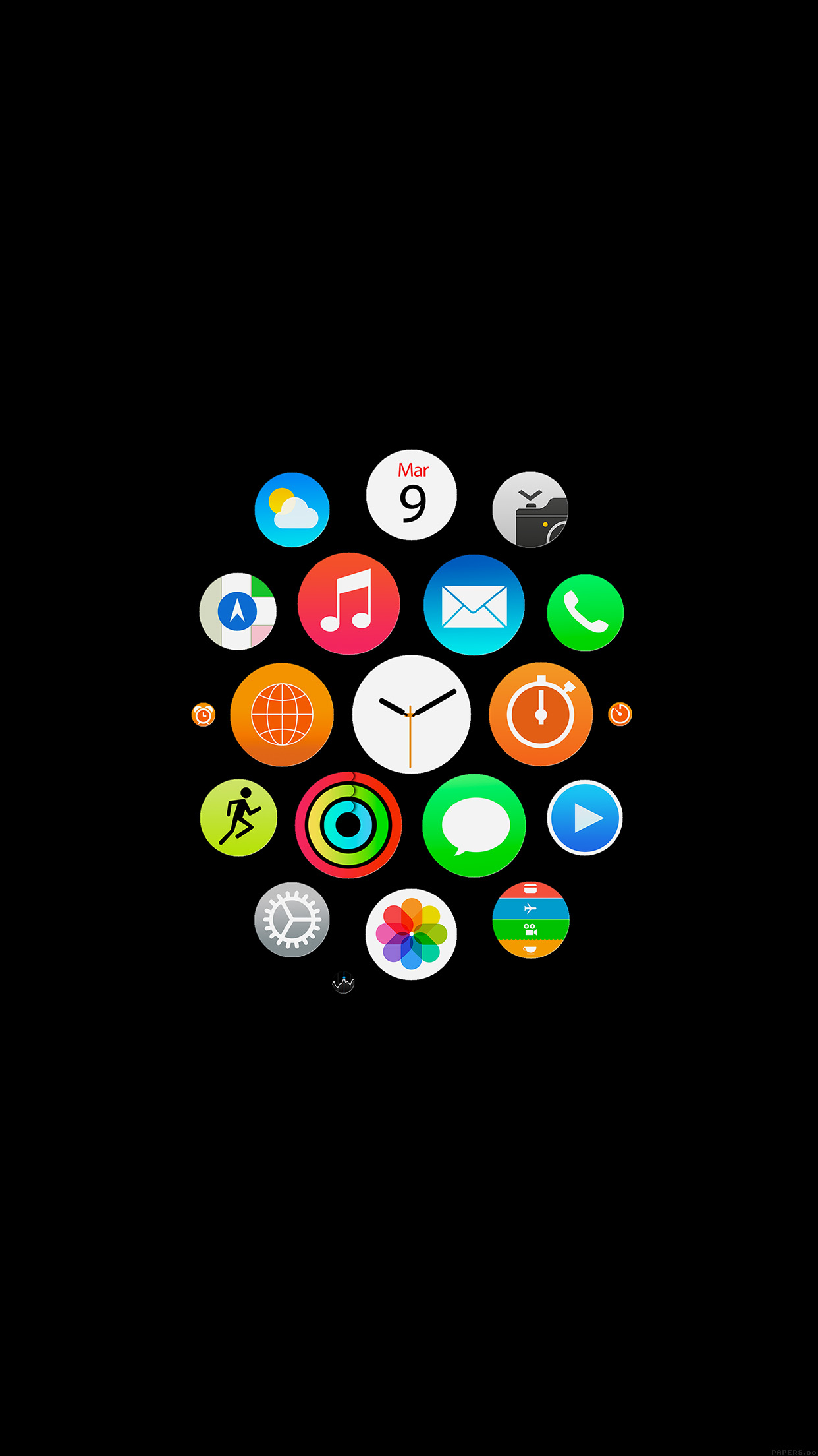 iPhone21papers   ak21 apple watch icons art illust dark