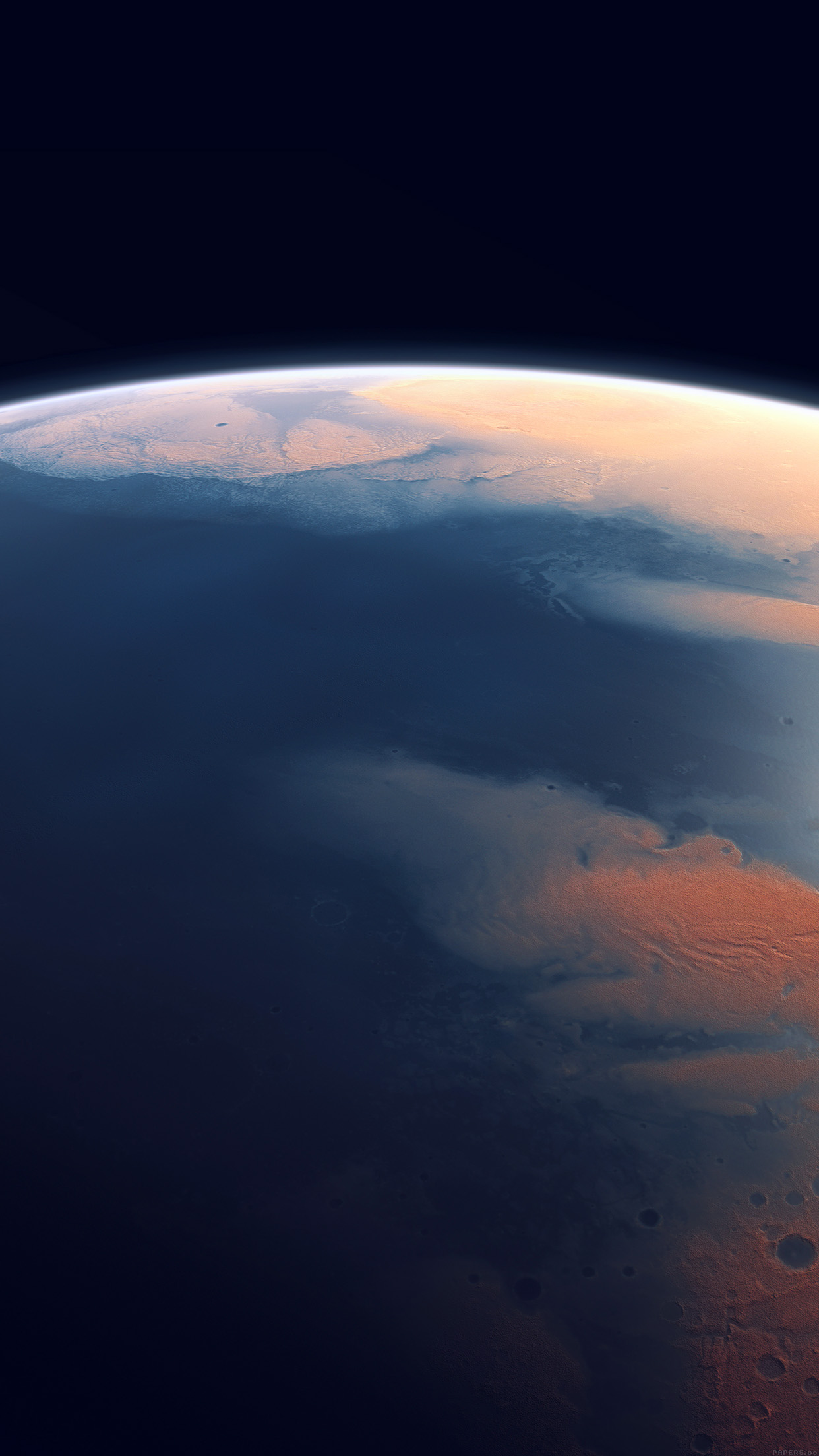 Artists Impression Of Mars Four Billion Years Ago