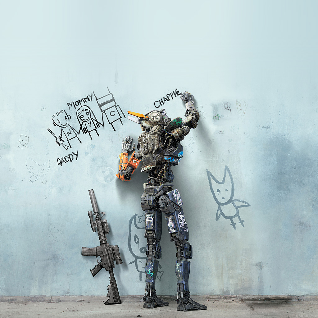 android-wallpaper-ak58-chappie-robot-art-film-poster-wallpaper