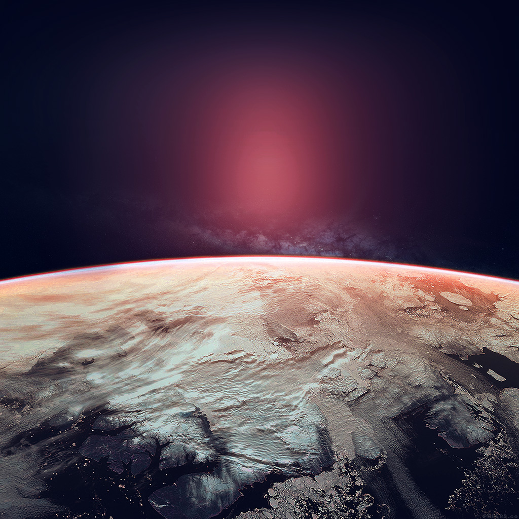 android-wallpaper-ak85-space-red-earch-winter-dark-art-wallpaper