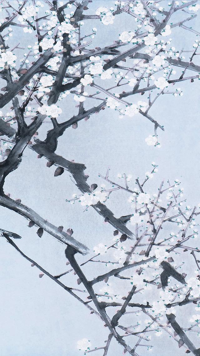 freeios8.com-iphone-4-5-6-plus-ipad-ios8-ak94-oriental-art-flower-blue-painting-illust