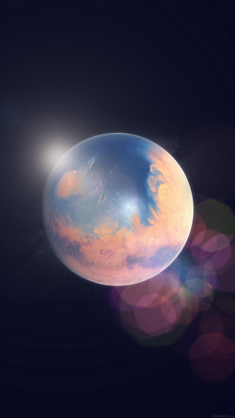 iPhonepapers.com-Apple-iPhone8-wallpaper-ak98-space-earth-planet-art-illust-flare
