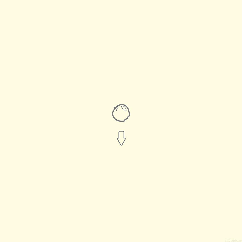 android-wallpaper-al04-apple-down-newton-gravity-simple-yellow-wallpaper