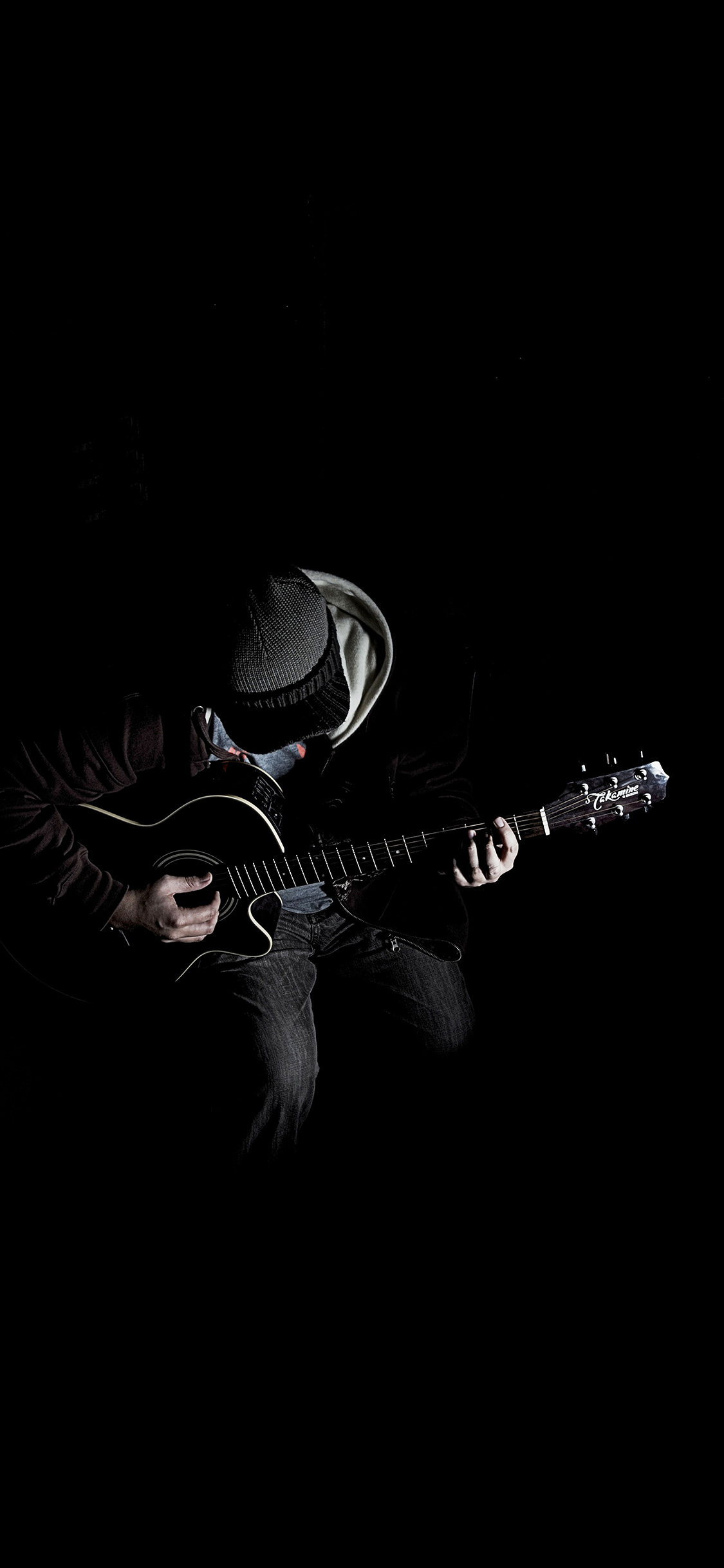 Papers Co Iphone Wallpaper Al10 Out The Dark Guitar Player Music