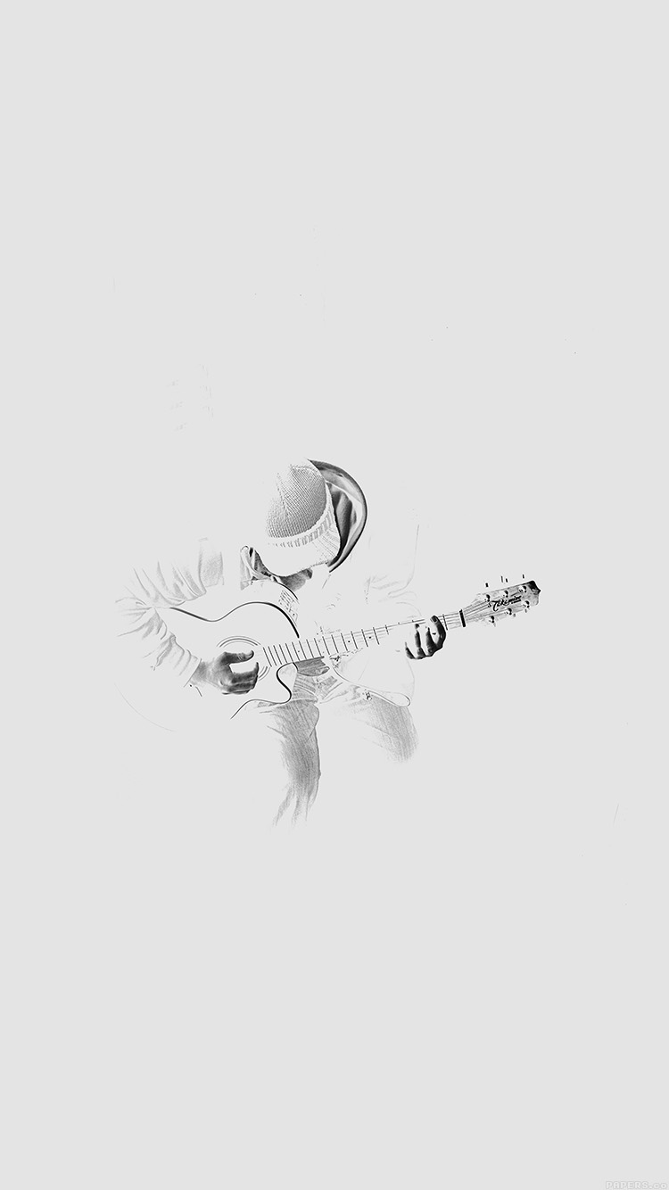 Papers.co-iPhone5-iphone6-plus-wallpaper-al11-out-the-dark-guitar-player-music-white