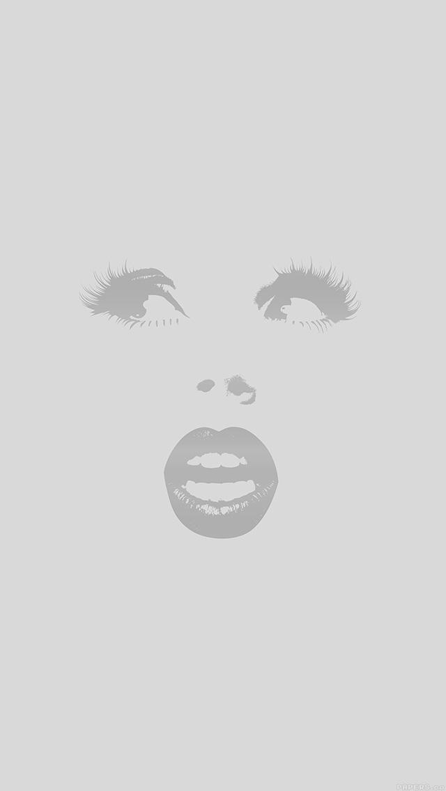 freeios8.com-iphone-4-5-6-plus-ipad-ios8-al22-surprise-girl-illust-art-simple-minimal-gray
