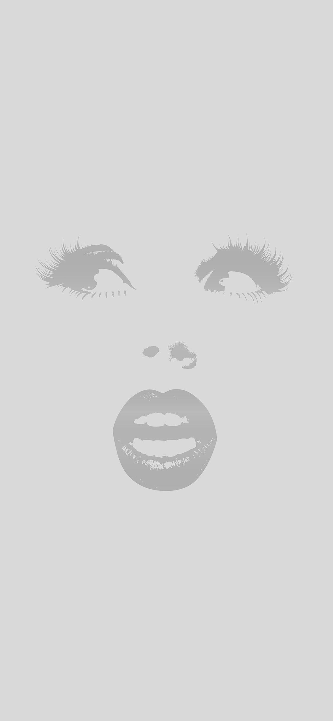 iPhonexpapers.com-Apple-iPhone-wallpaper-al22-surprise-girl-illust-art-simple-minimal-gray