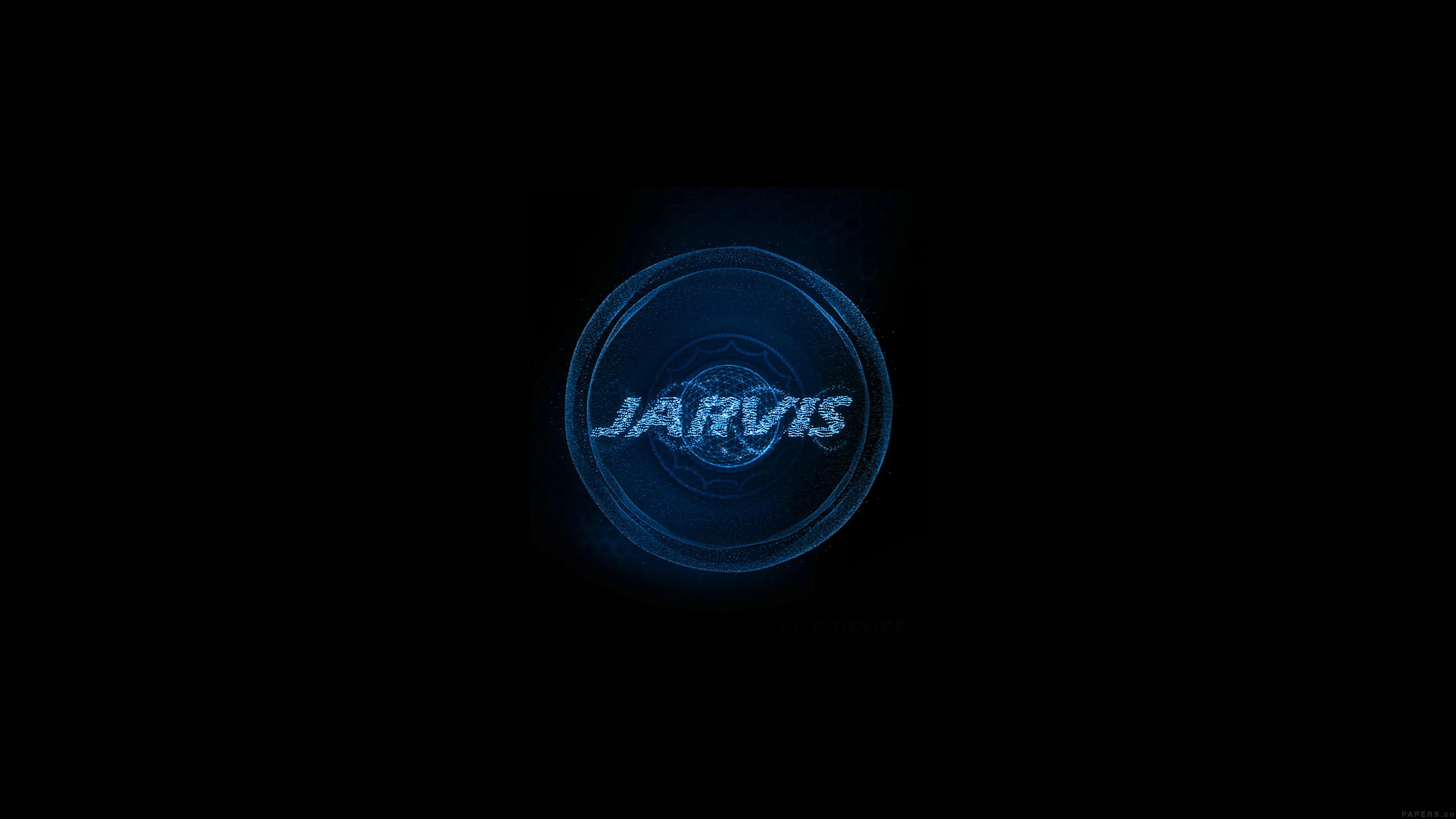 Al49 Jarvis Ironman Art Minimal Blue Wallpaper
