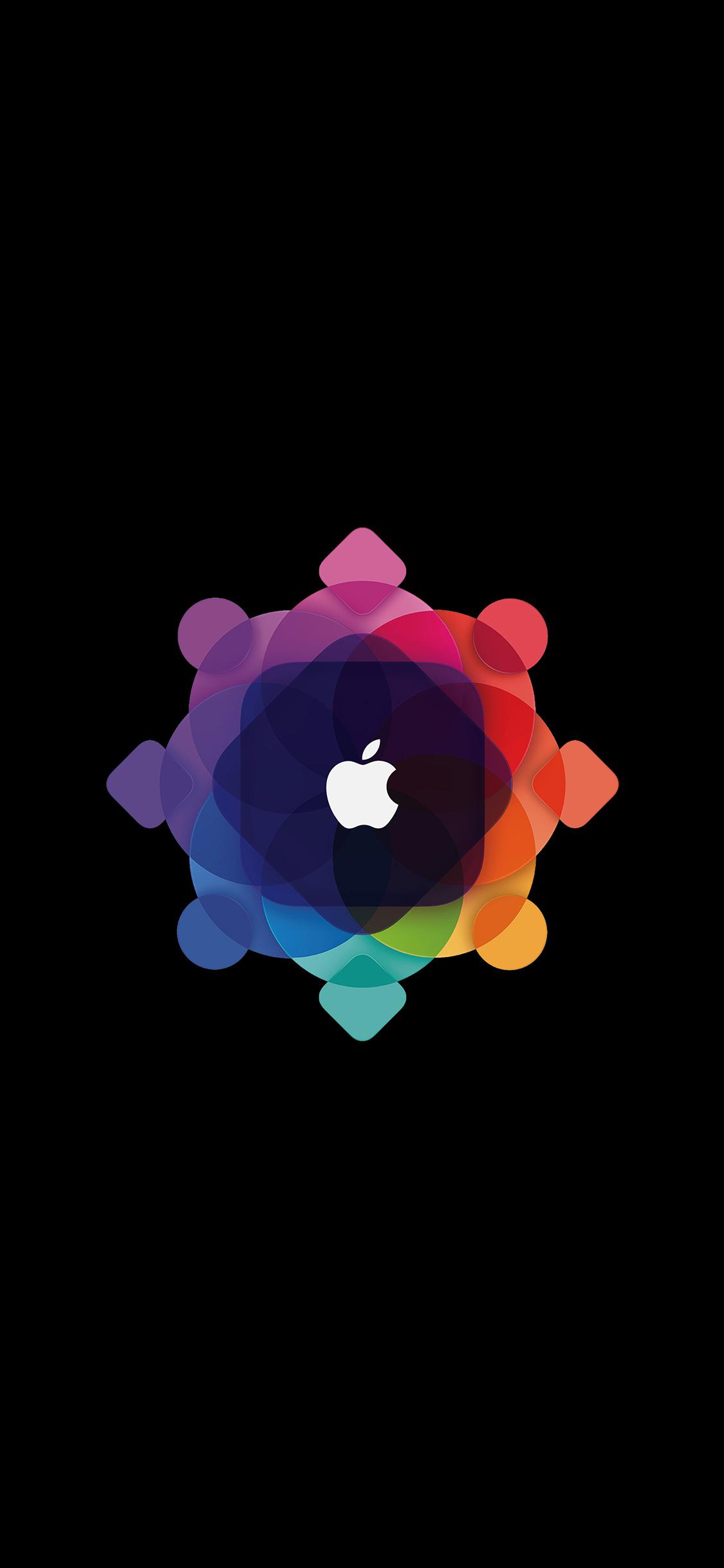 Al56 Apple Wwdc Art Logo Minimal Dark Wallpaper