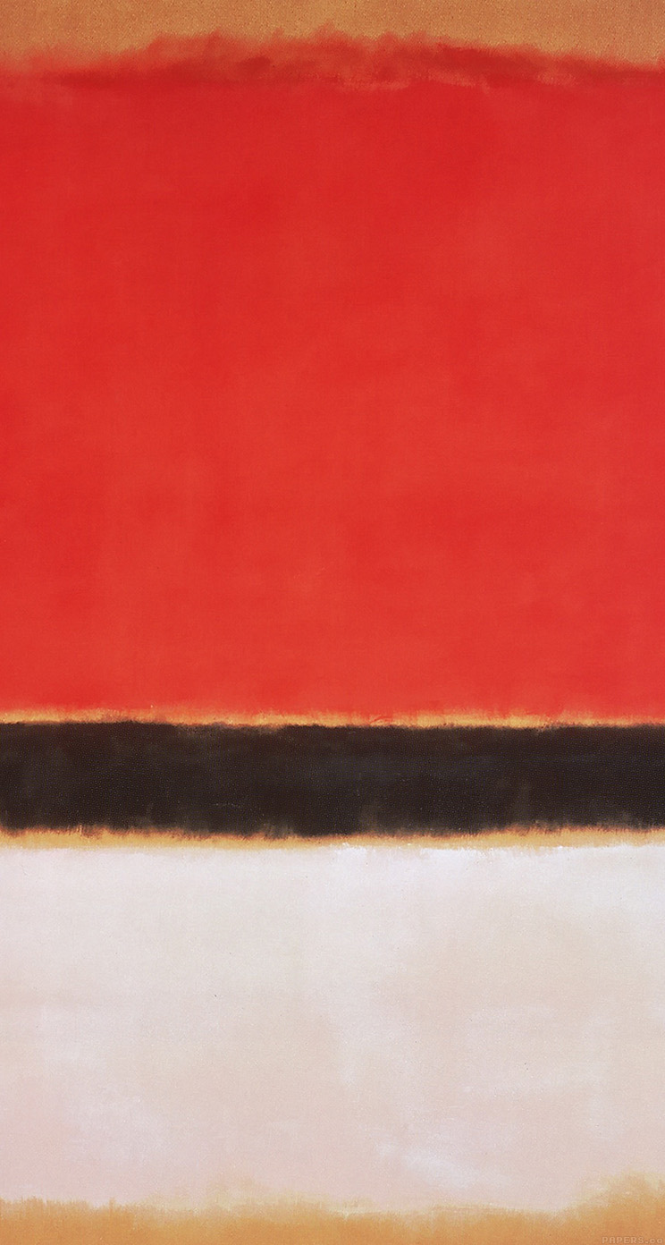 Freeios7 al67 red black white rothko mark paint style - Classic art wallpaper iphone 5 ...
