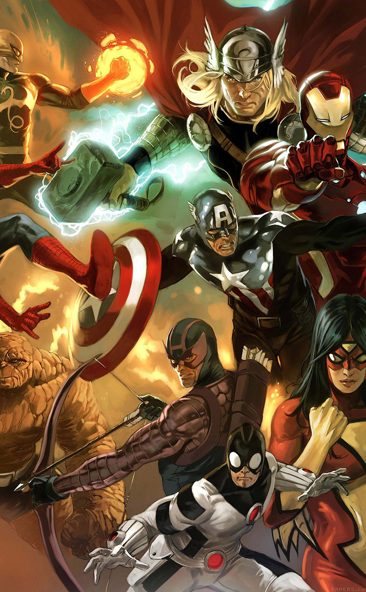 Freeios7 al79 avengers liiust comics marvel art hero - Avengers superhero wallpaper ...