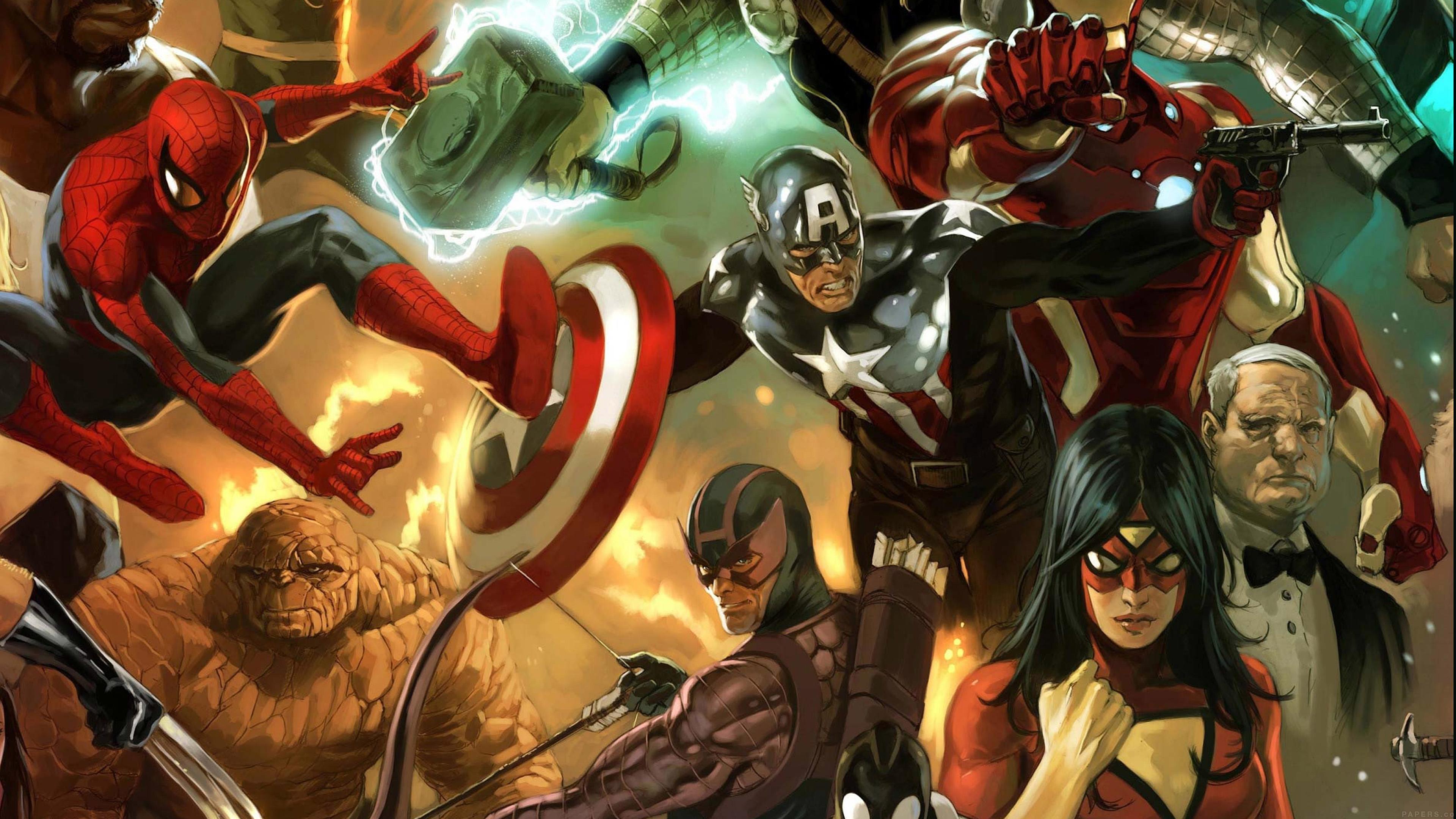 Wallpaper For Desktop Laptop Al79 Avengers Liiust Comics Marvel Art Hero