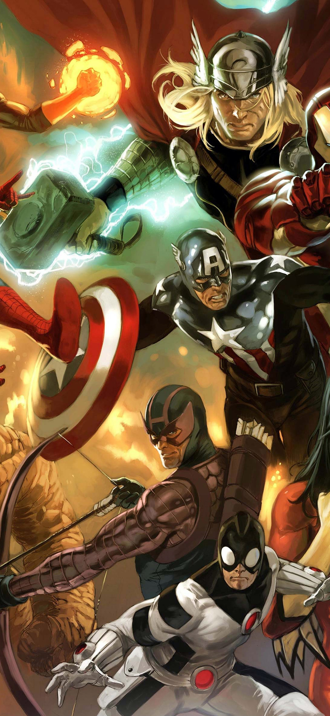 iPhoneXpapers.com-Apple-iPhone-wallpaper-al79-avengers-liiust-comics-marvel-art-hero