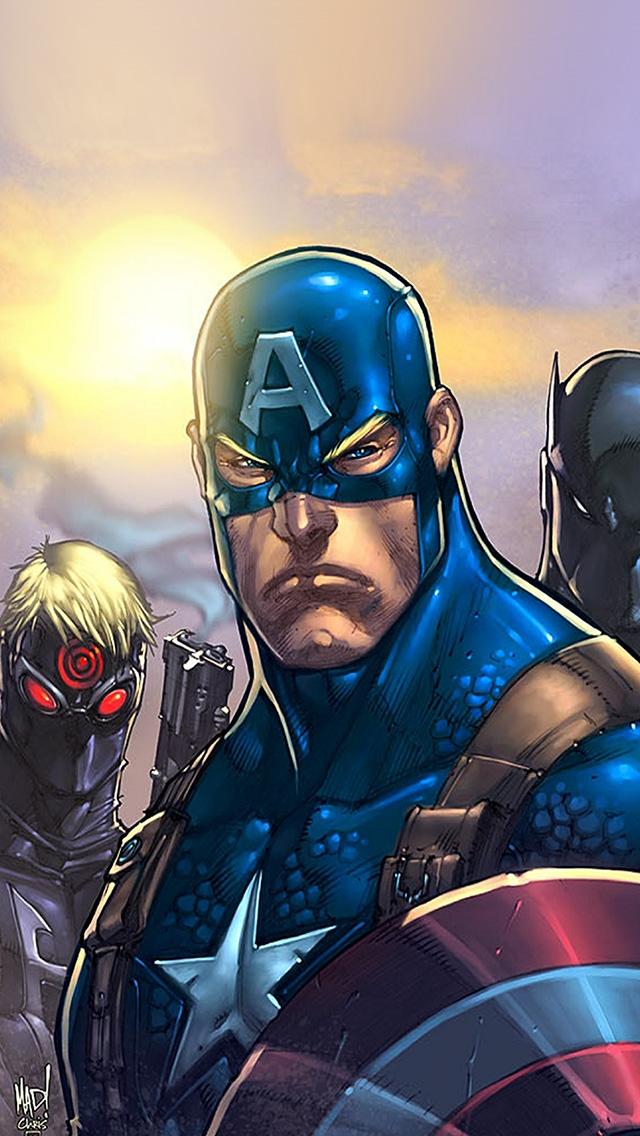 freeios8.com-iphone-4-5-6-plus-ipad-ios8-al81-comics-avengers-illust-art-hero-marvels