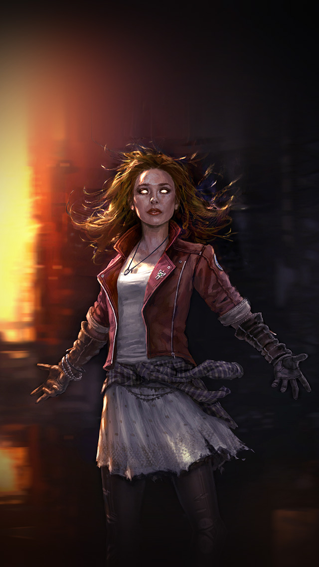 freeios8.com-iphone-4-5-6-plus-ipad-ios8-al83-scarlett-witch-avengers-illust-scary-art-hero