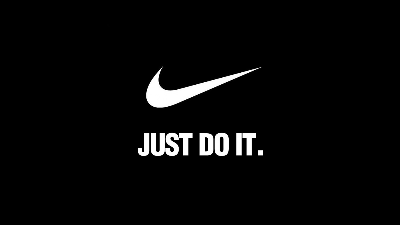 Al90 Nike Just Do It Dark Simple Minimal Logo Art Papers Co