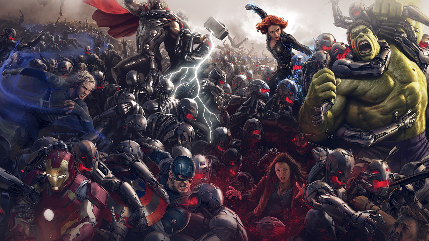 wallpaper-desktop-laptop-mac-macbook-al92-avengers-marvel-hero-ultron-super-fight-art-wallpaper