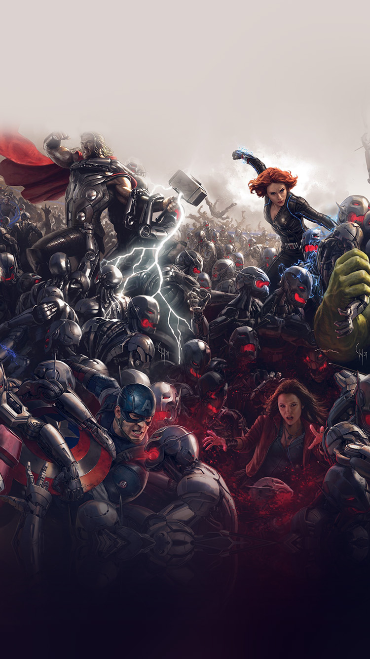 Papers.co-iPhone5-iphone6-plus-wallpaper-al92-avengers-marvel-hero-ultron-super-fight-art