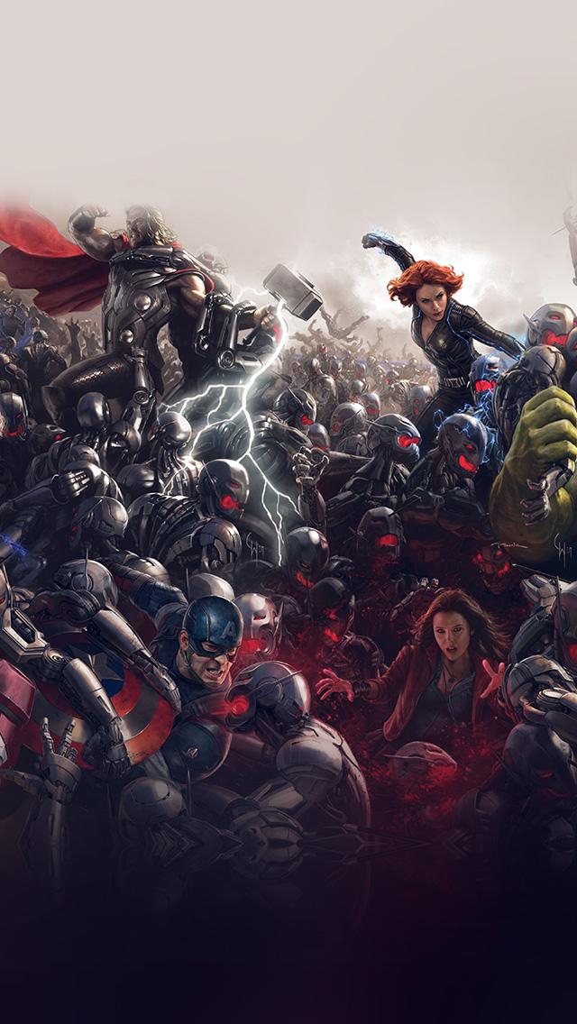 freeios8.com-iphone-4-5-6-plus-ipad-ios8-al92-avengers-marvel-hero-ultron-super-fight-art