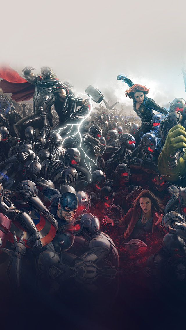 freeios8.com-iphone-4-5-6-plus-ipad-ios8-al93-avengers-marvel-hero-ultron-flare-art