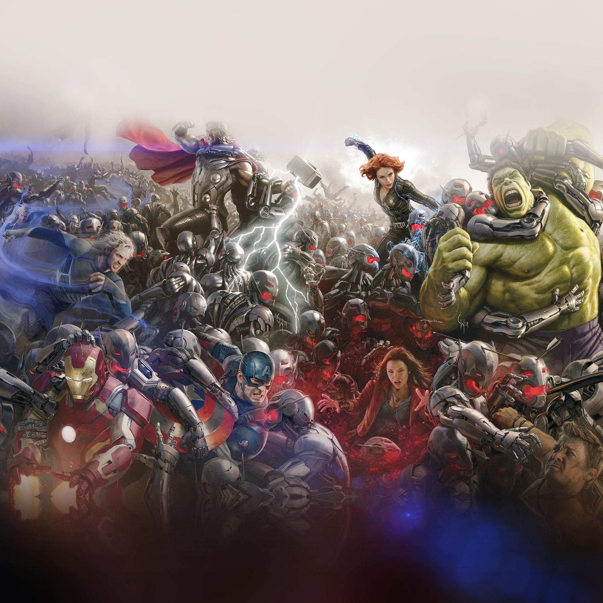 Wallpaper Iphone Superhero: Al94-avengers-marvel-hero-ultron-flare-art-fight-light