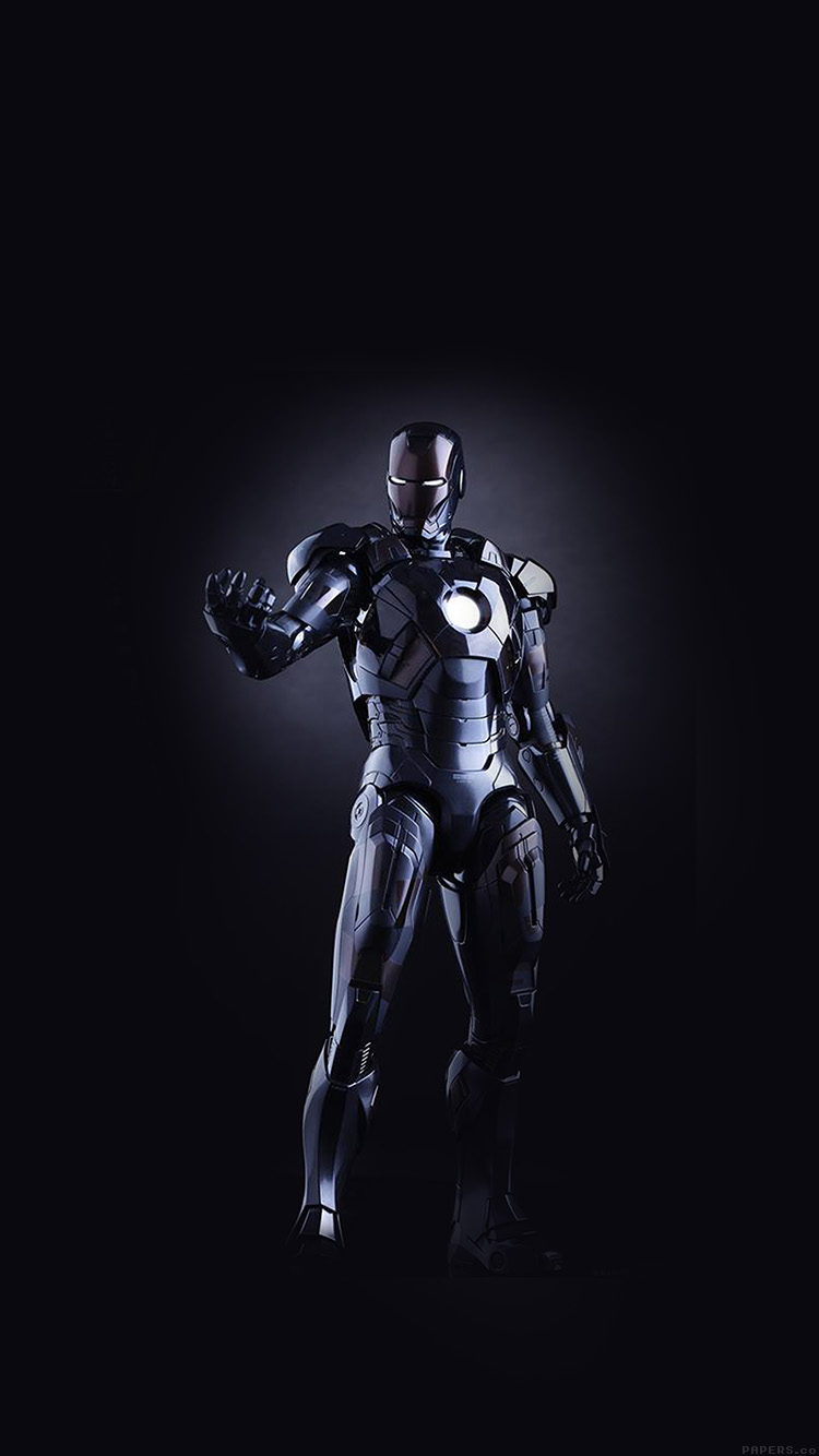 Papers.co-iPhone5-iphone6-plus-wallpaper-al99-ironman-dark-figure-hero-art-avengers