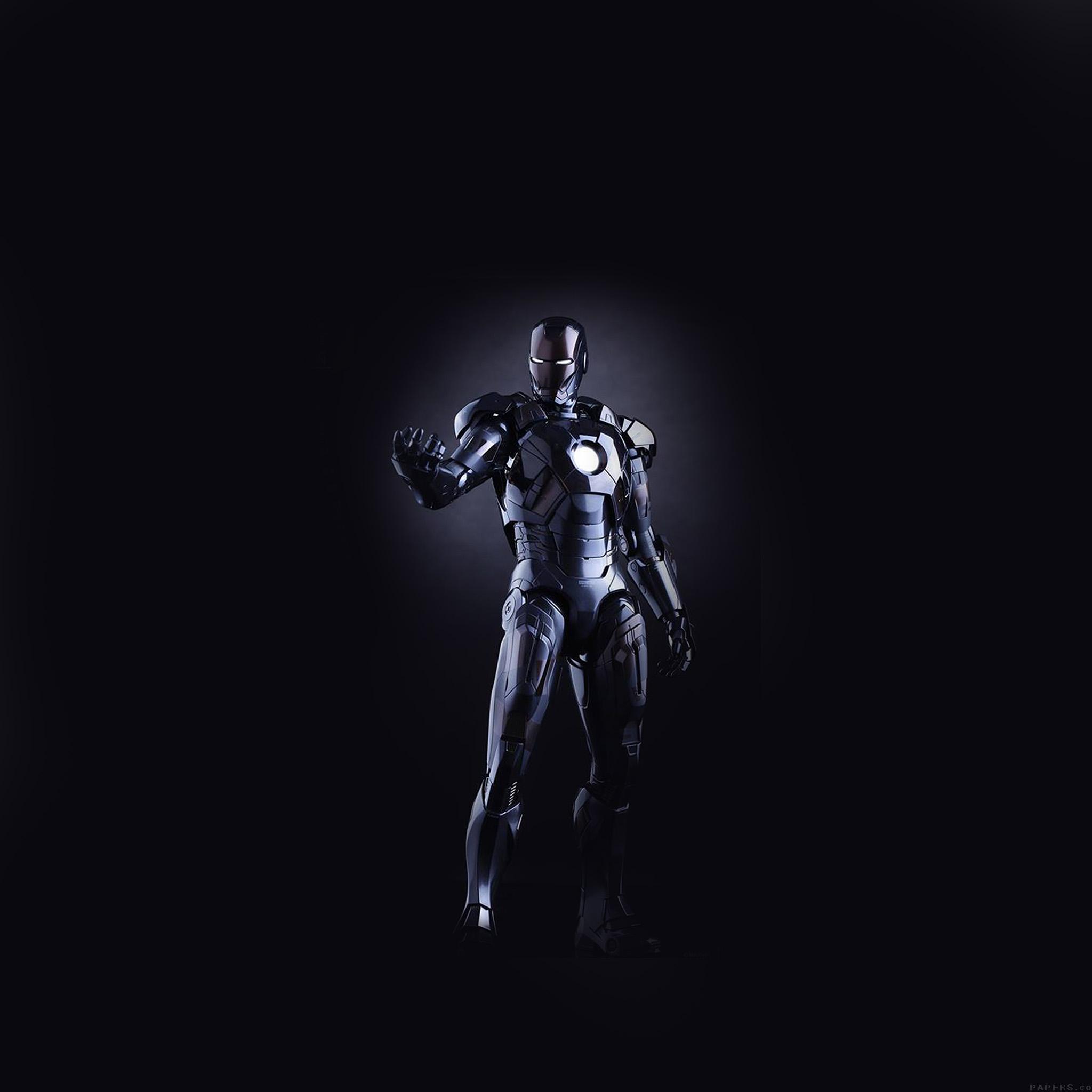 Wallpaper Iphone Superhero: Al99-ironman-dark-figure-hero-art-avengers