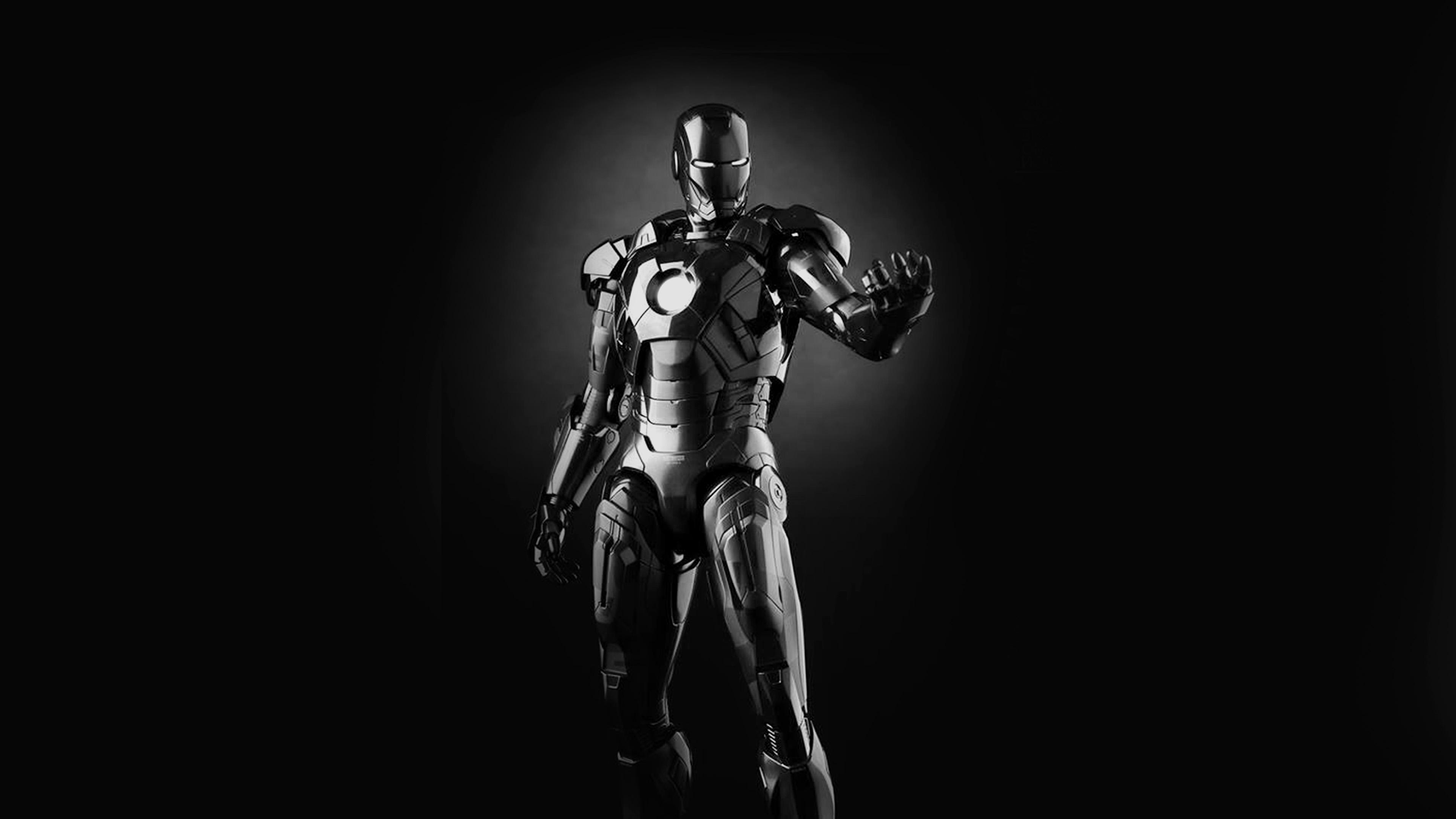 Papers Co Desktop Wallpaper Am00 Ironman Dark Figure Hero Art