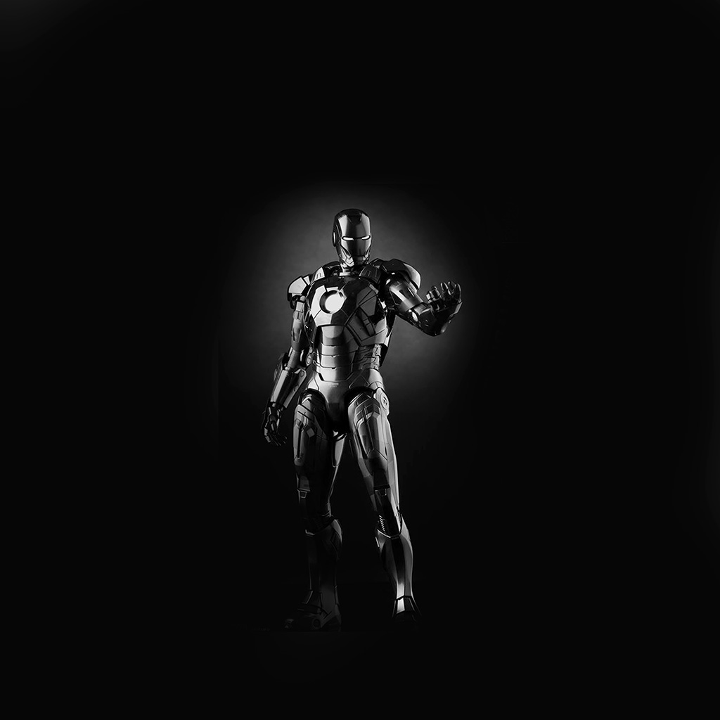 android-wallpaper-am00-ironman-dark-figure-hero-art-avengers-bw-wallpaper