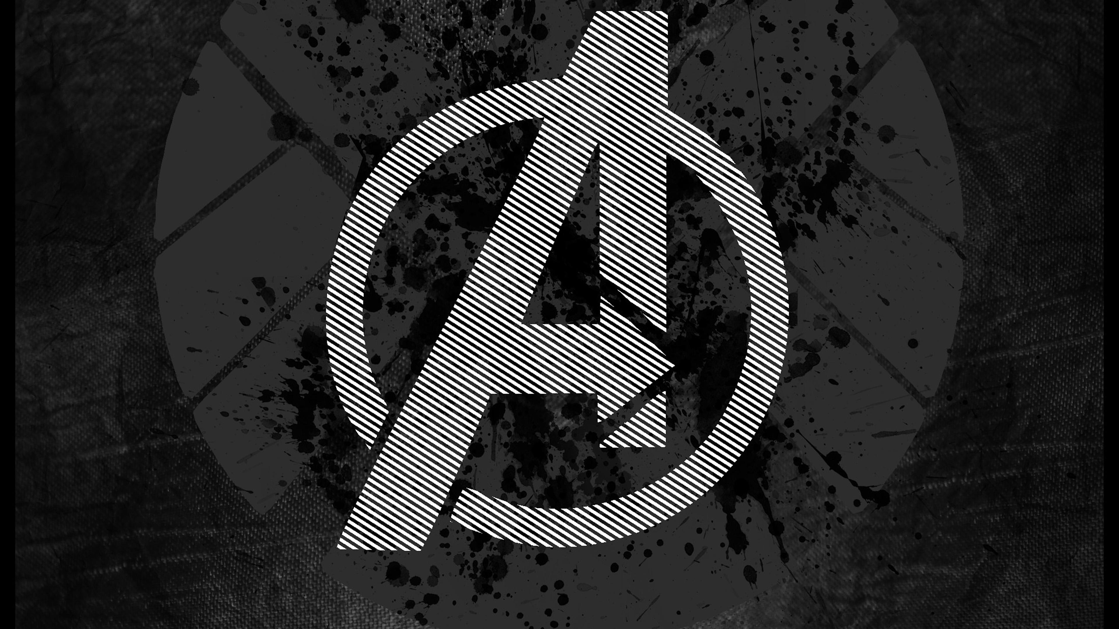 am03-avengers-logo-art-hero-dark - Papers.co