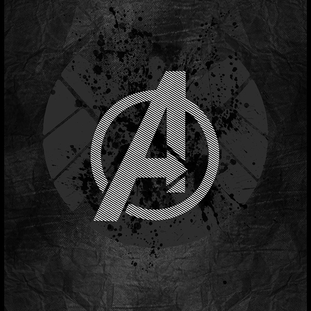 Wallpaper Iphone Superhero: Am03-avengers-logo-art-hero-dark