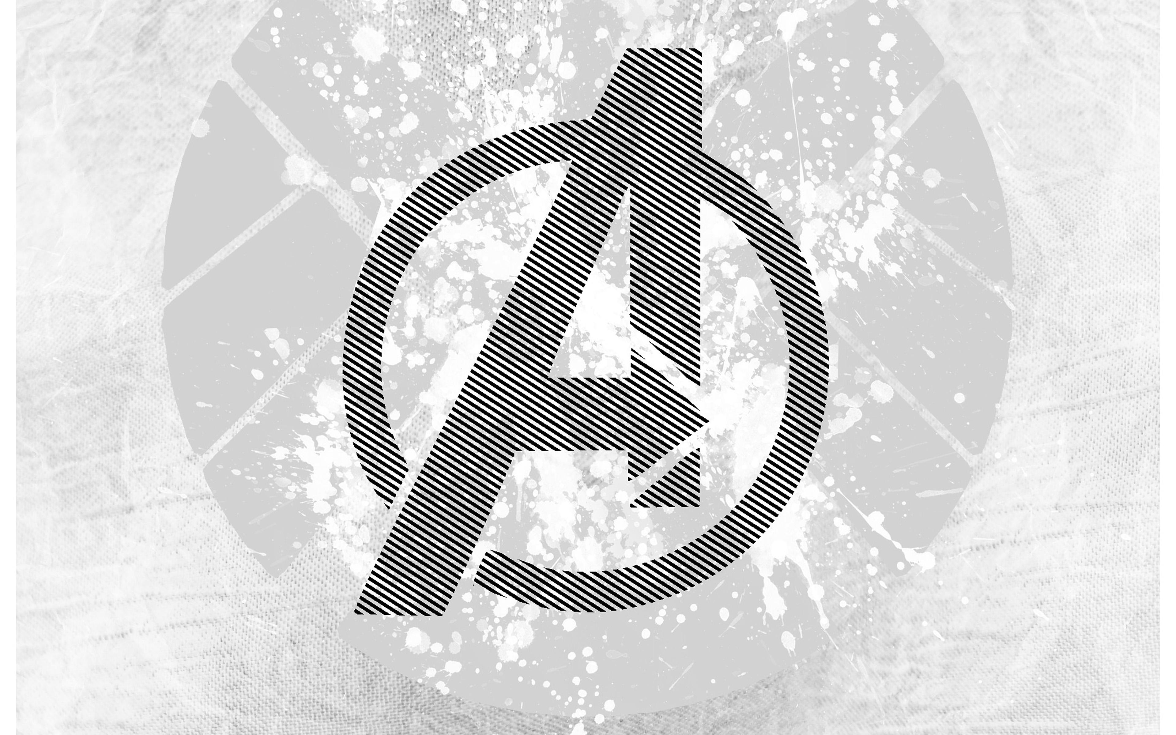 Am04 avengers logo art hero white wallpaper - Avengers a logo 4k ...