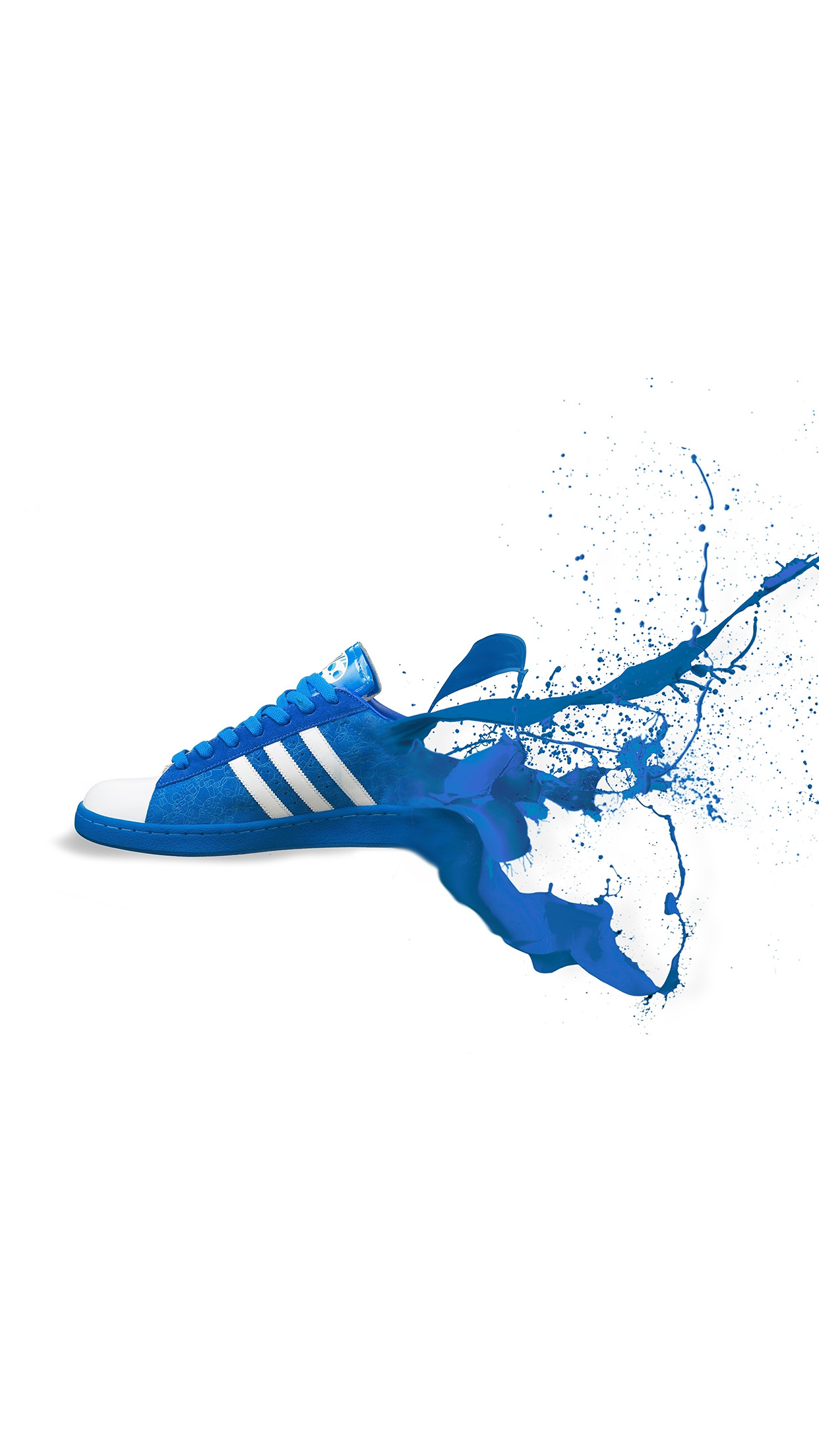 Iphone7papers Am05 Adidas Blue Shoes Sneakers Logo Art