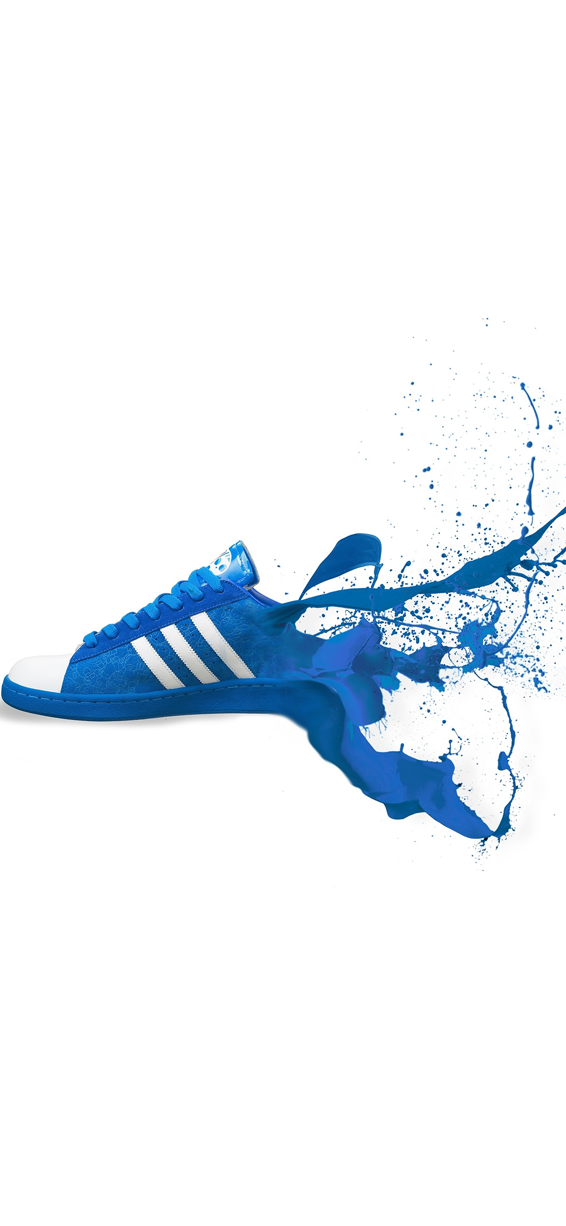 Iphonexpapers Am05 Adidas Blue Shoes Sneakers Logo Art