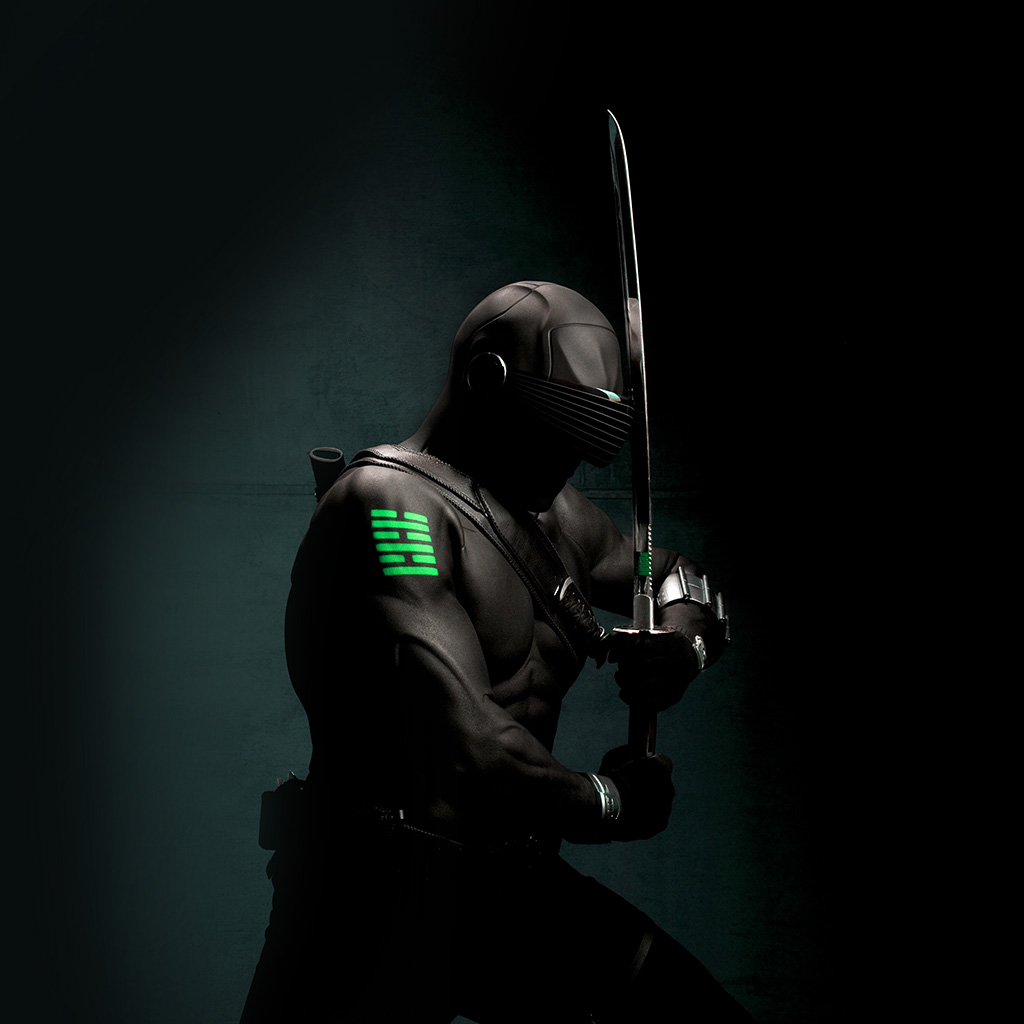 android-wallpaper-am28-gi-joe-snake-eye-ninja-art-dark-hero-green-wallpaper