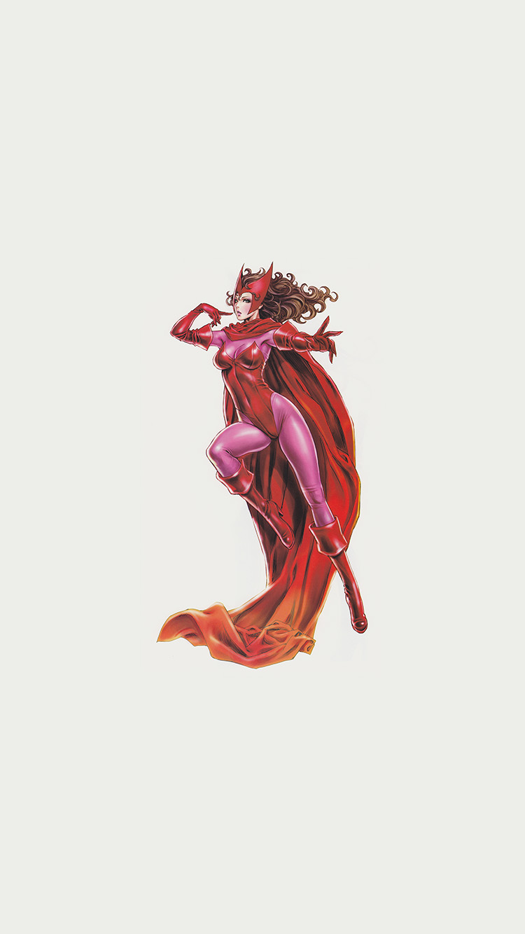 Papers.co-iPhone5-iphone6-plus-wallpaper-am41-scarlet-witch-avengers-comics-illust-art-film