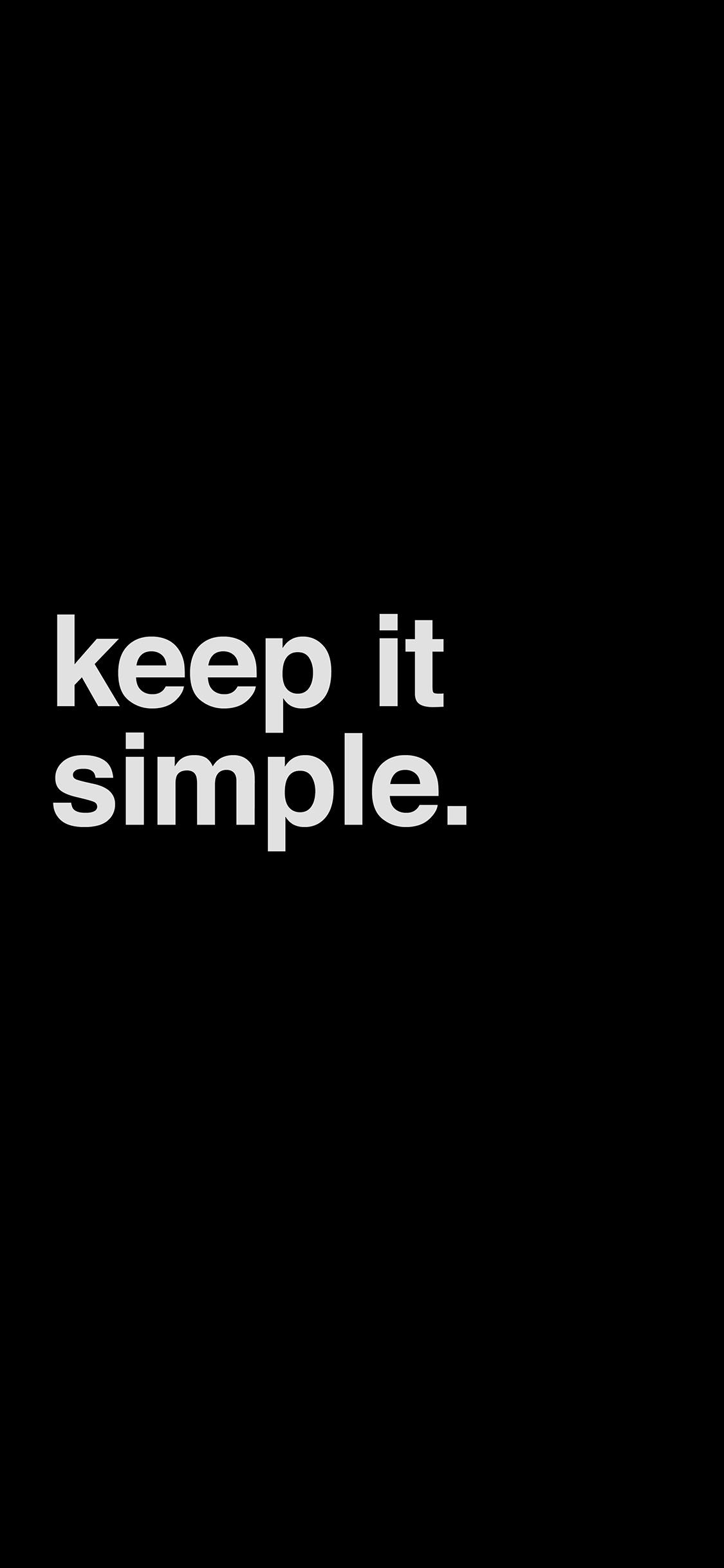 iPhoneXpapers.com-Apple-iPhone-wallpaper-am50-minimal-keep-it-simple-stupid-black-dark-quote